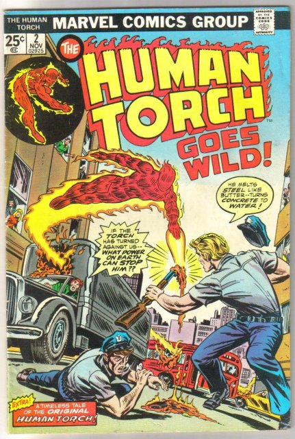 The Human Torch #2 comic book fine/very fine 7.0