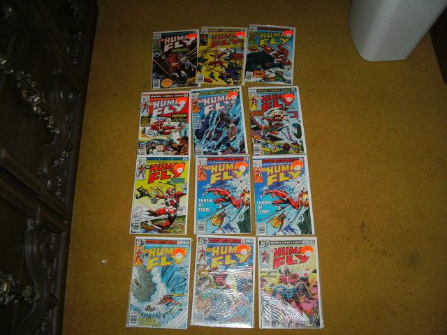 Twelve Human Fly comic books very high grade