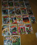 41 different old Incredible Hulk comic books