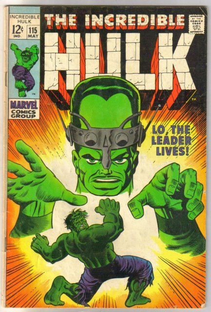 Incredible Hulk #115 comic book very good 4.0