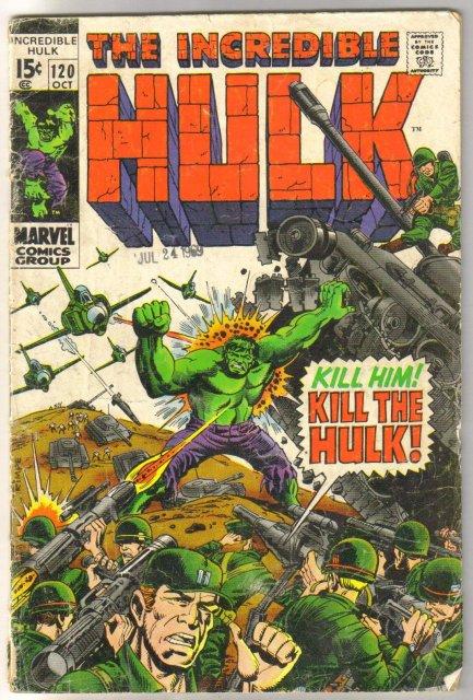 Incredible Hulk #120 comic book very good 4.0
