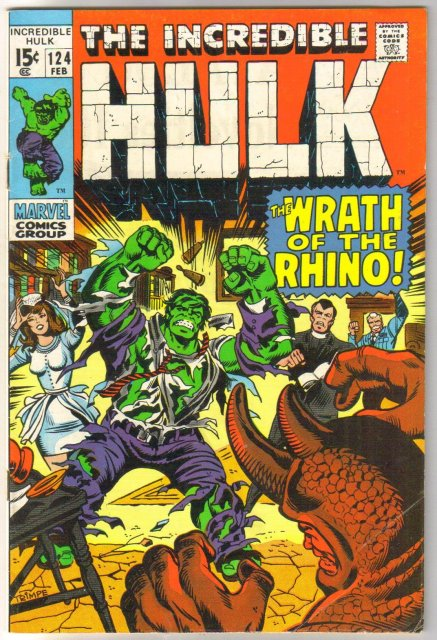Incredible Hulk #124 comic book very good/fine 5.0