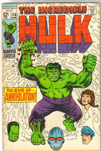Incredible Hulk #116 comic book fine 6.0