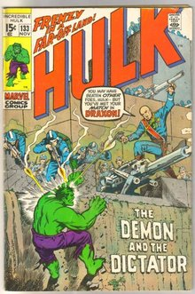 Incredible Hulk #133 comic book fine 6.0