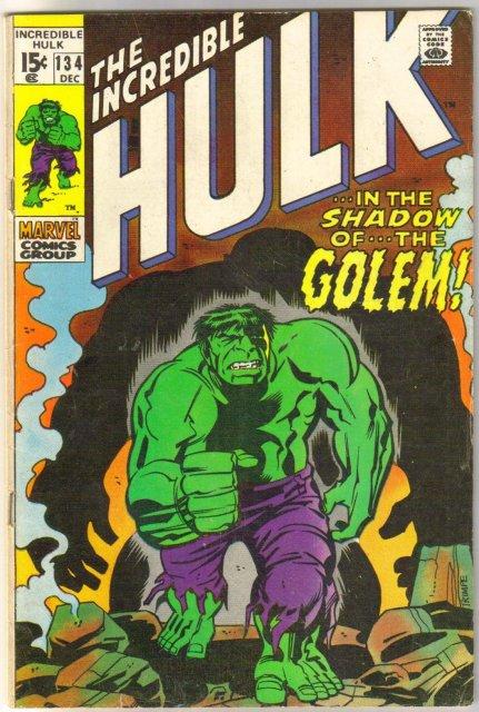 Incredible Hulk #134 comic book fine/very fine 7.0