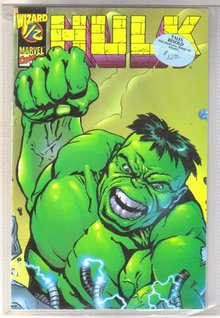 Wizard 1/2 Hulk comic book mint