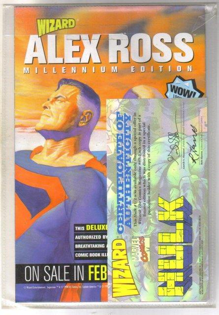 Wizard 1/2 Hulk comic book mint