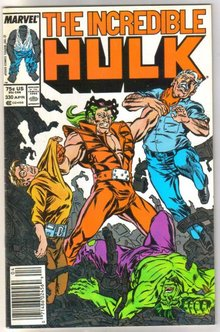 Incredible Hulk #330 comic book fine 6.0