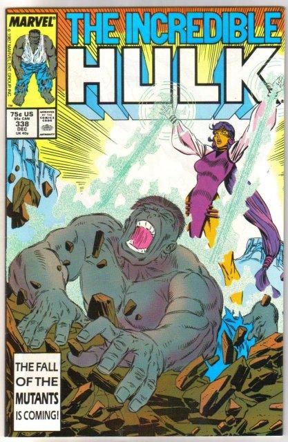 Incredible Hulk #338 comic book near mint 9.4