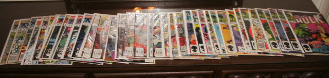 Incredible Hulk collection of 38 comic books average grade near mint #s 311 thru 392