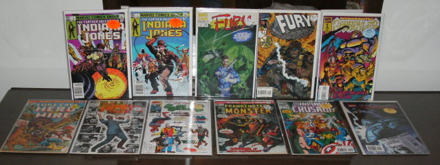 Assortment of 11 Marvel miscellaneous comic books