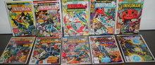 Inhumans collection of 10 comic books medium grade