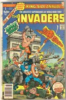 The Invaders Annual#1 comic book very good 4.0