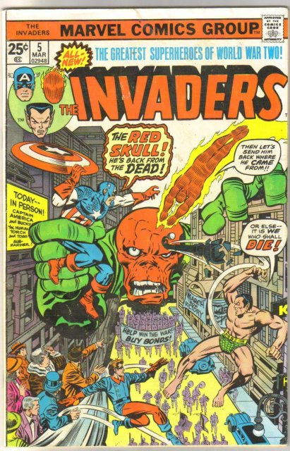 The Invaders #5 comic book very good 4.0