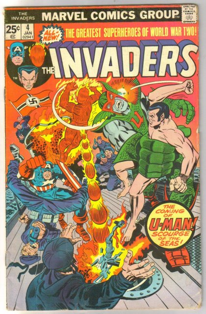 The Invaders #4 comic book very good/fine 5.0