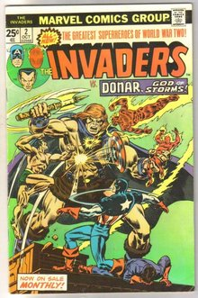 Invaders #2 comic book fine 6.0