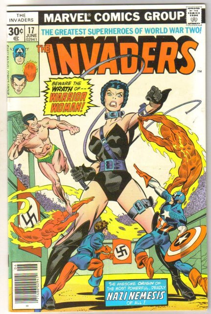 Invaders #17 comic book very fine/near mint 9.0