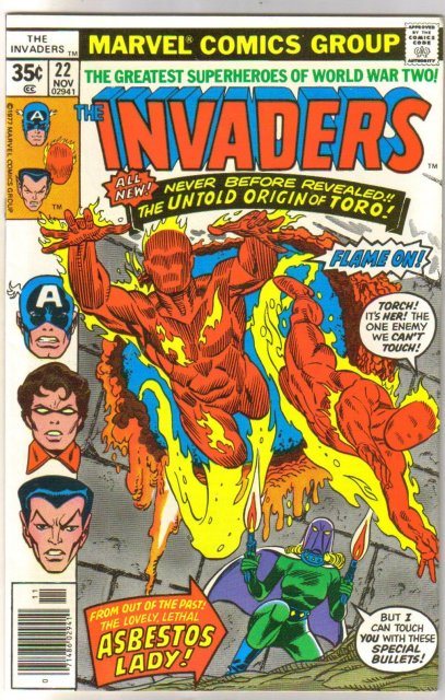 Invaders #22 comic book near mint 9.4