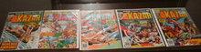 Kazar volume 1 5 issue assortment of comic books