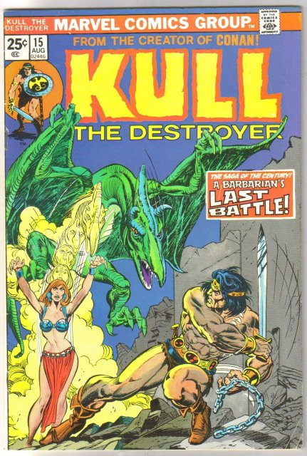 Kull the Conqueror #15 comic book very fine 8.0