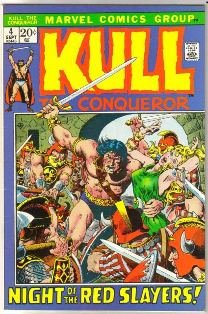 Kull the Conqueror #4 comic book very fine/near mint 9.0