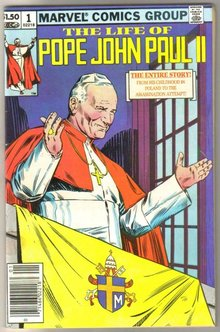 The Life of Pope John Paul II comic book near mint 9.4