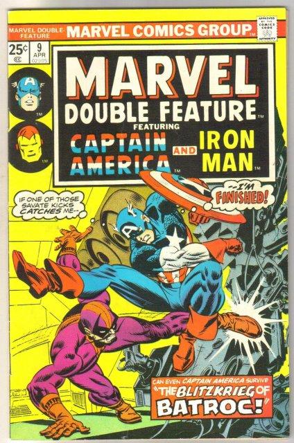 Marvel Double Feature #9 comic book fine/very fine 7.0