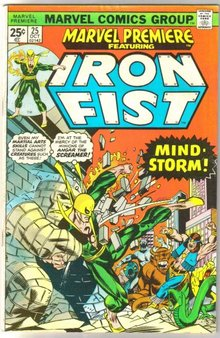 Marvel Premiere #25 featuring Iron Fist comic book fine 6.0