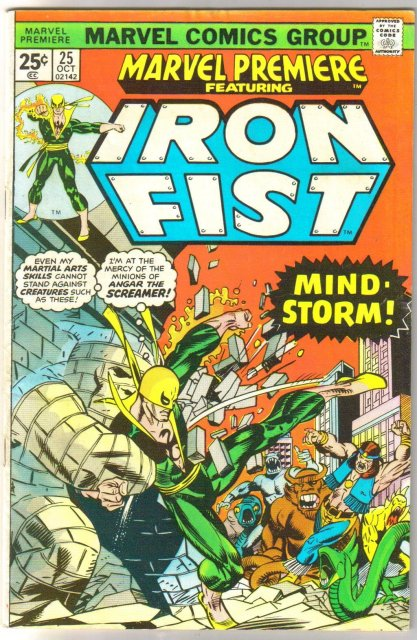 Marvel Premiere #25 featuring Iron Fist comic book vg/fn 5.0