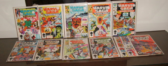 Marvel Saga 12 issue comic book collection