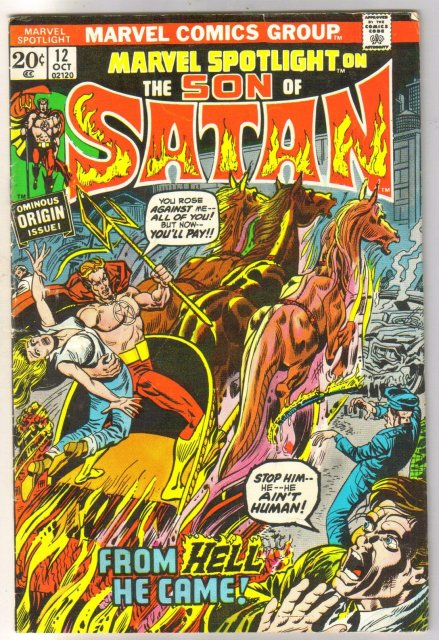 Marvel Spotlight on The Son of Satan #12 comic book very good/fine 5.0