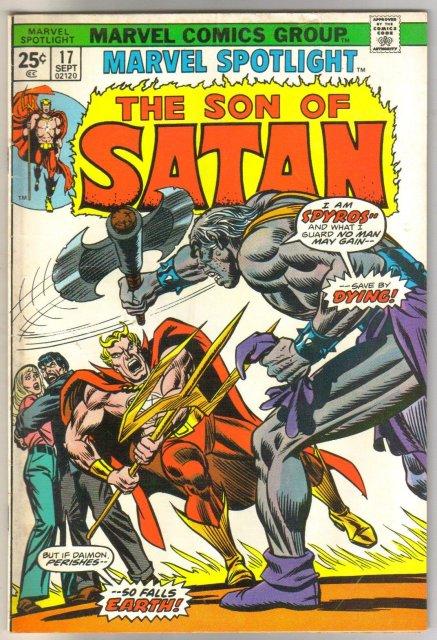 Marvel Spotlight on The Son of Satan #17 comic book very good/fine 5.0