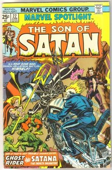 Marvel Spotlight on The Son of Satan #22 comic book fine 6.0