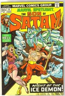 Marvel Spotlight on The Son of Satan #14 comic book very fine 8.0