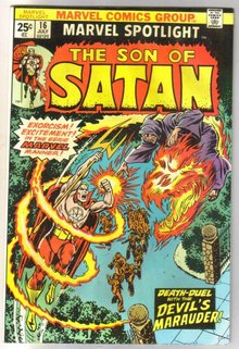 Marvel Spotlight on The Son of Satan #16 comic book very fine 8.0