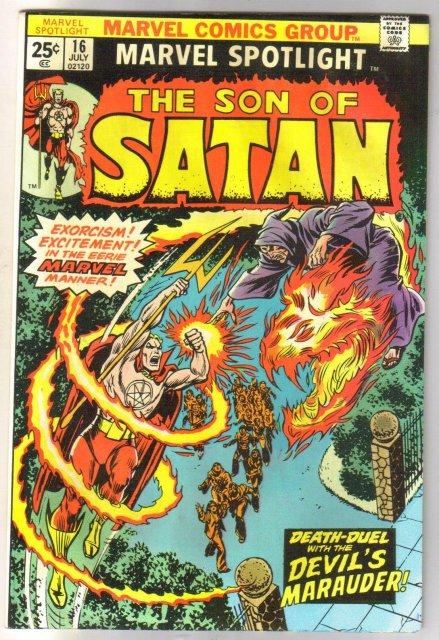 Marvel Spotlight on The Son of Satan #16 comic book very fine 8.0