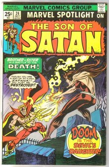 Marvel Spotlight on The Son of Satan #24 comic book very fine 8.0