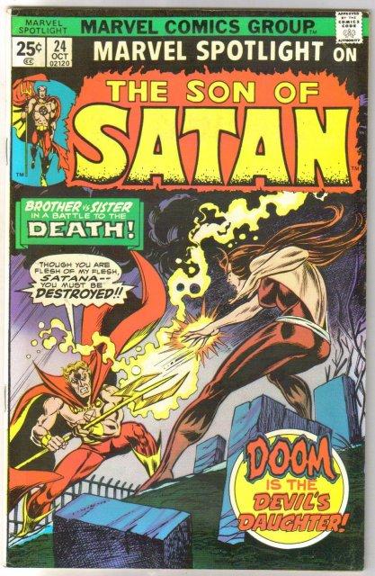 Marvel Spotlight on The Son of Satan #24 comic book very fine 8.0