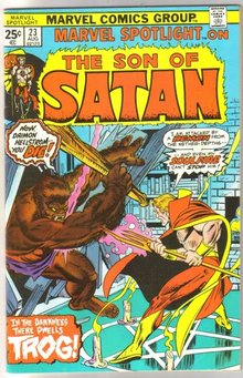 Marvel Spotlight on The Son of Satan #23 comic book very fine 8.0
