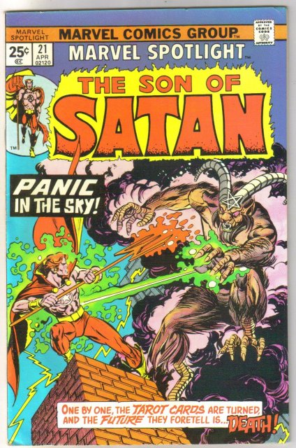 Marvel Spotlight on The Son of Satan #21 comic book very fine 8.0