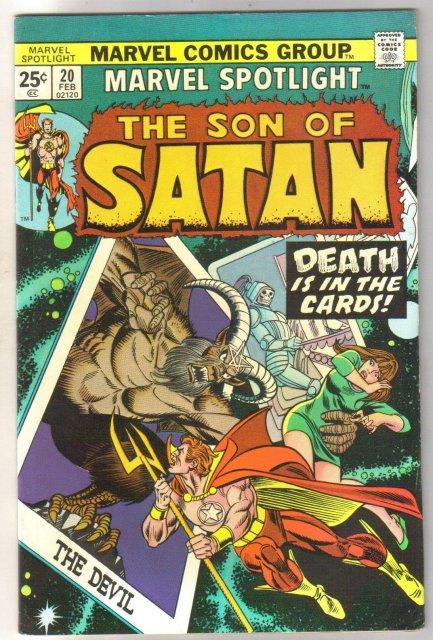 Marvel Spotlight on The Son of Satan #20 comic book very fine 8.0