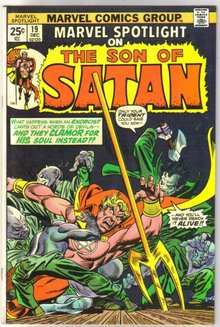 Marvel Spotlight on The Son of Satan #19 comic book near mint 9.4