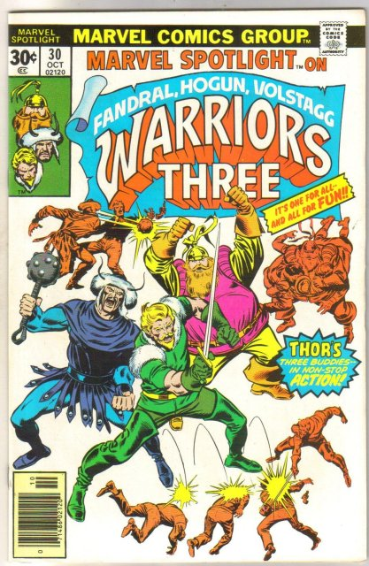 Marvel Spotlight on Fandral, Hogun, Volstagg Warriors Three #30 comic book near mint 9.4