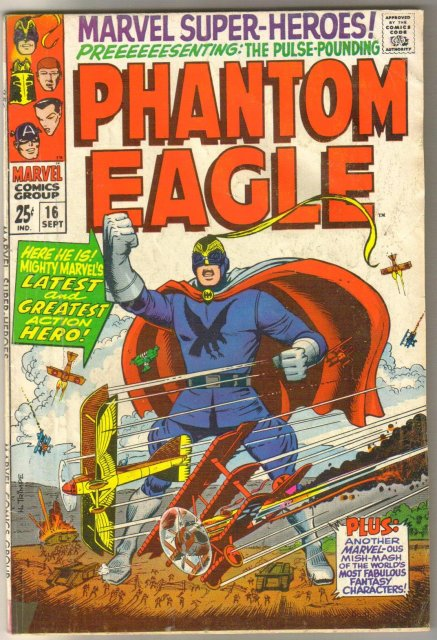 Marvel Super-heroes #16 Phantom Eagle comic book very good 4.0