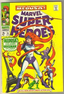 Marvel Super-heroes #15 Medusa comic book fine/very fine 7.0
