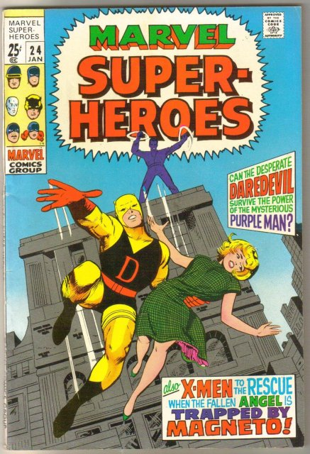 Marvel Super-heroes #24 Daredevil and X-Men comic book very fine 8.0