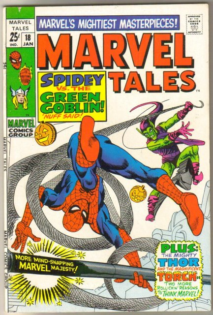 Marvel Tales #18 comic book very fine/near mint 9.0