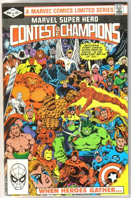 Marvel Super Hero Contest of Champions #1 comic book near mint 9.4
