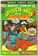 Marvel Team-up #3 featuring Spider-man and Human Torch comic book very good/fine 5.0