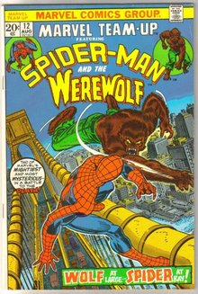 Marvel Team-up #12 featuring Spider-man and Werewolf comic book very good/fine 5.0